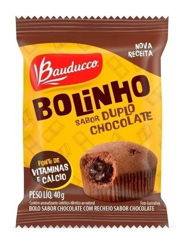 Imagem 1 de 1 de Bolinho De Duplo Chocolate Bauducco 40g
