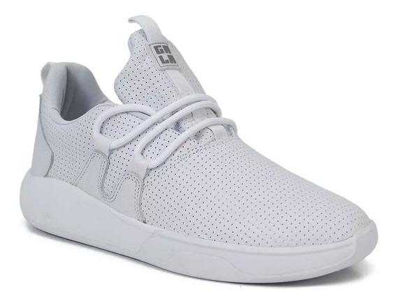 Tênis Hocks Skate Galáctica Sneaker Branco White Couro Original Masculino E Feminino Confortável Promoção Envio Imediato