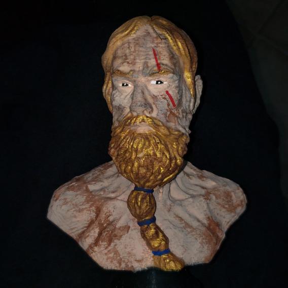 Busto Viking Em Abs