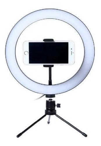 Trípode Mini Selfie Aro Anillo Luz  Led Usb 26cm Usb Celul R