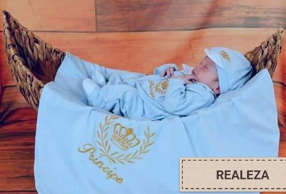 Saida De Maternidade Azul Menino Príncipe Realeza