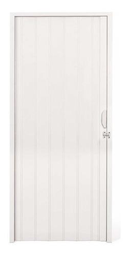 Porta Sanfonada Pvc 2,10m X 80cm Branca Liege