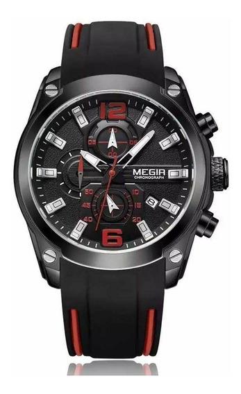Relógio Megir 2063 Masculino Original Envio Imediato Nf-e