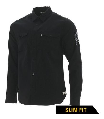 Camisa Cat Manga Larga Negro - 2610386-10121-s