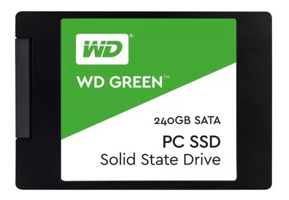Hd Ssd 240gb Wd Green Leitura 540mb/s Sata 3 2,5 6gb/s