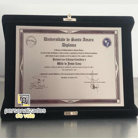 Placa De Homenagem - Certificado