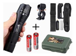 Linterna Militar Ultrafire 12000lm T6 Táctica Kit 2 Baterías