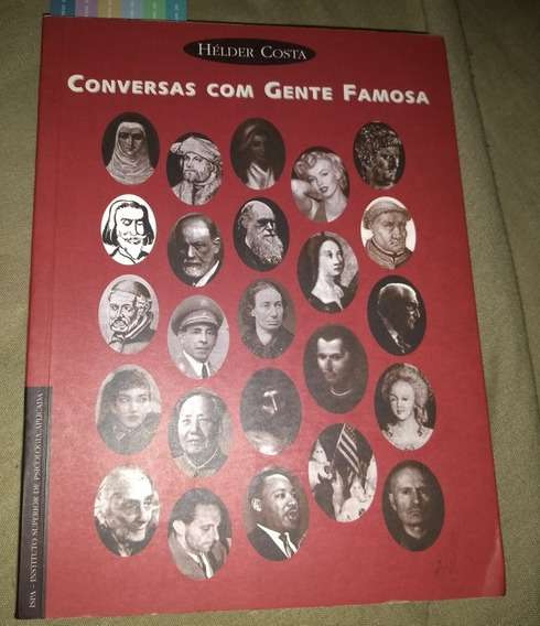 Livro Conversas Com Gente Famosa Helder Costa Raro