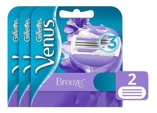 Packx3 Gillette Venus Breeze Cartuchos De Afeitar 2uni