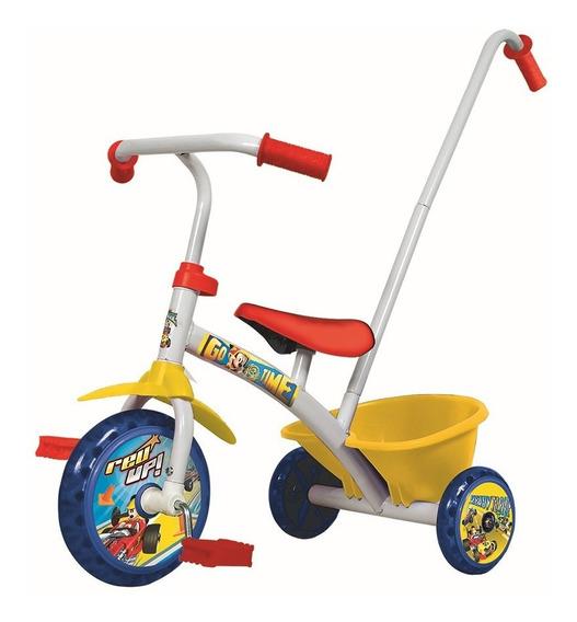 Triciclo Infantil Con Barral Bebes Niños Kuma Kids - Rex