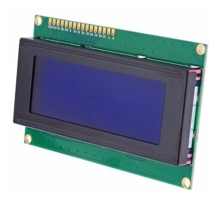 Display Lcd 20x4 Com Backlight Azul Escrita Branca / Arduino