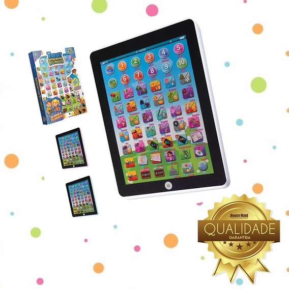Tablet Infantil Interativo Bilingue Para Crianças
