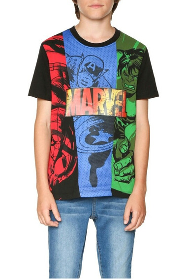 Playera Desigual Comics 9/10 11/12 13/14 Cool Niño Marvel A