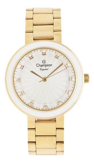 Relógio Feminino Champion Crystal Cn29972h Dourado
