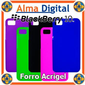 2x Forro Acrigel Blackberry Z10 Estuche Protector Manguera