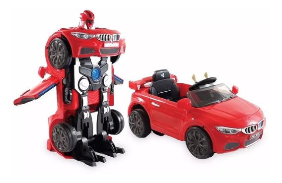 Auto A Batería 12v Robot Transformer C/ Remoto Mp3 Optimus