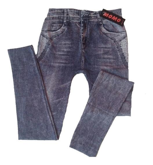 Leggins Tipo Jeans Dama Casual Strech Tela Gruesa Sueter