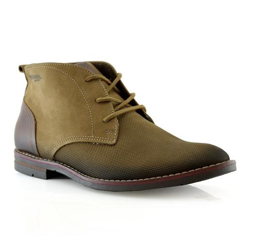 Zapato Botita Hombres Cuero 121979-06 Pegada Tienda Oficial