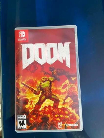 Doom Nintendo Switch Midia Fisica Usado Frete Cr Grátis