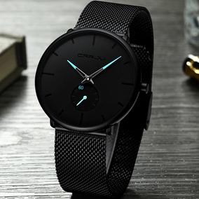 Relógio Masculino Crrju Pulseira Em Aço Inoxidável