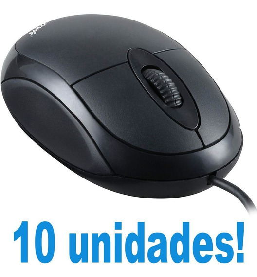Kit Para Lan House 10 Mouse Pra Mecher No Computador Simples