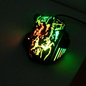 Mouse Gamer 7 Botões 5500 Dpi Iluminados Por Leds Coloridos