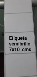 Etiquetas Autoadhesivas Sben Rollo Blancas Medida : 70 X 100