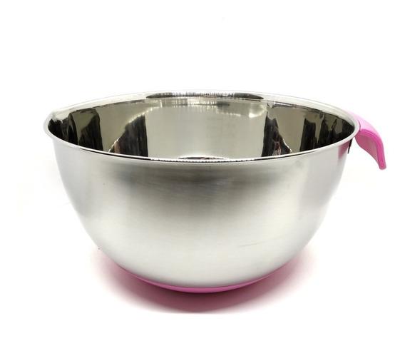 Bowl De Acero Profesional 4 L N°24 Base Silicona Mastercheff