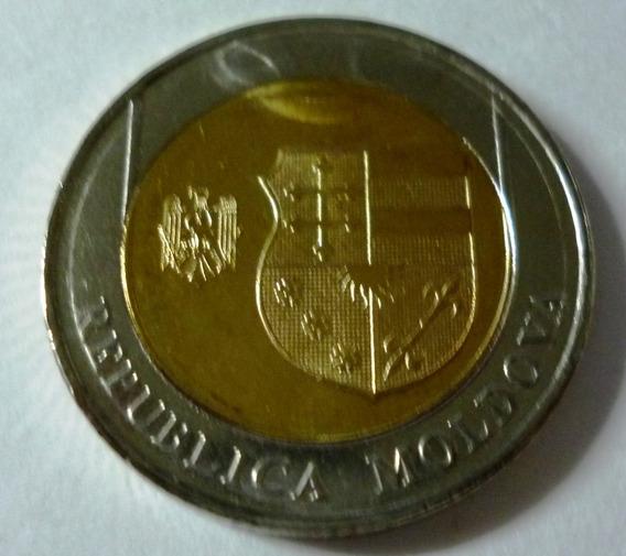 Moldavia Moneda Bimetalica 10 Lei 2018 Unc