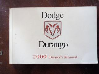 Manual Dodge Durango 2000 Original Completo Sin Manchas !!!