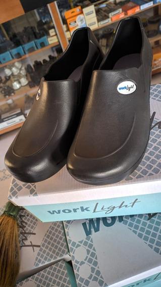 Sapato Eva Work Light Branco, Antiderrapante Enfermagem.