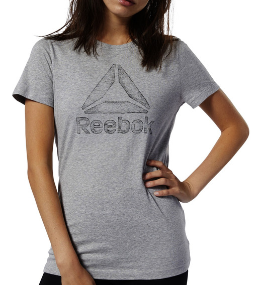 Remera Reebok Training Graphic Series Traced Delta Mujer Gr