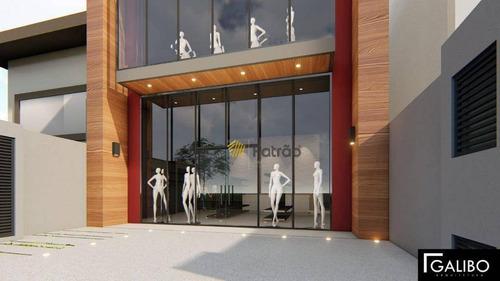 Imagem 1 de 6 de Prédio Para Alugar, 215 M² Por R$ 22.000,00/mês - Centro - Santo André/sp - Pr0116