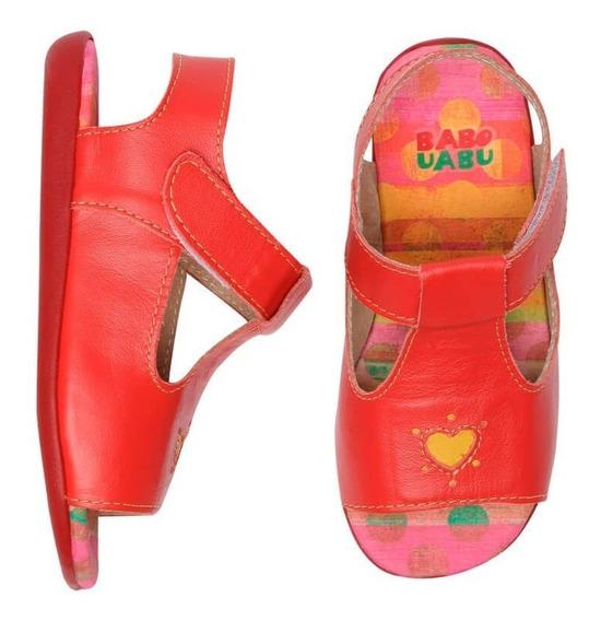 Sandália Infantil Vermelha Coração Trivoli Babo Uabu