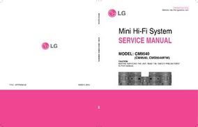 Esquema Som Lg Cm9540 Mini Hi-fi System