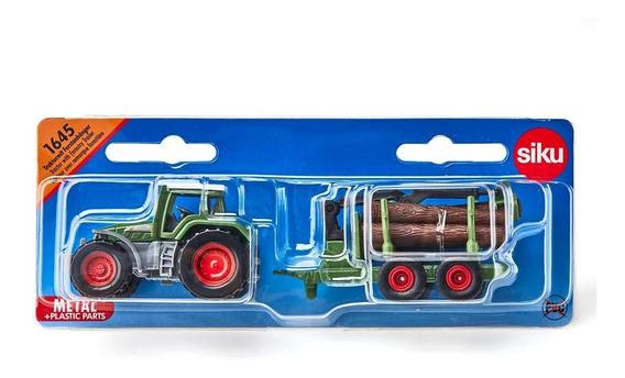 Tractor Fendt Con Trailer Forestal - Siku Series 16