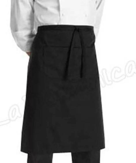 Faldón Delantal De Cocina Con Bolsillo - Tela Antimancha -