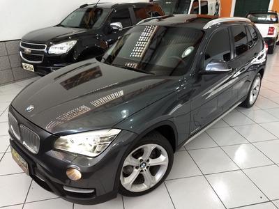 Bmw X1 Blindada 2014 Cinza 2.0 Turbo N Iii-a Teto Top 55 Km