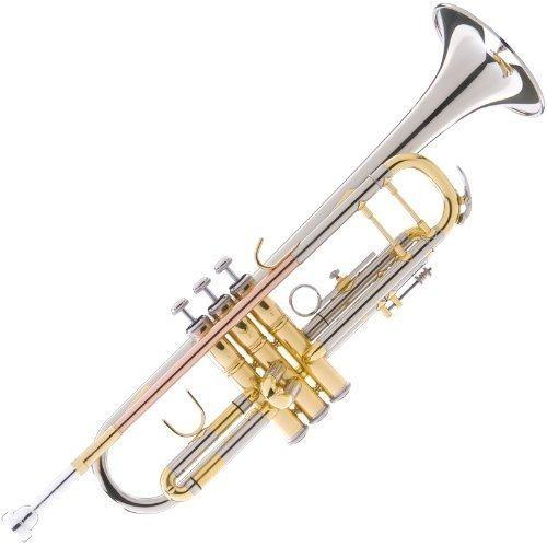 Mendini Mtt-30cn Trompeta Bb De Doble Filo Con Revestimiento