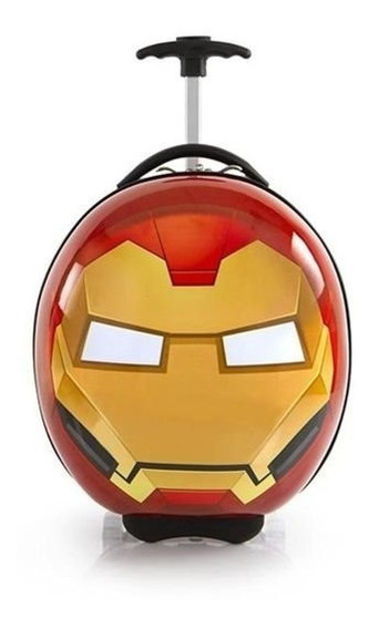Maleta Iron Man Avengers Circular Casco Iron Man Brillosa