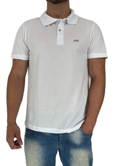 Kit 4 Camisa Polo Social Mescla Branca Mxd Piquet Preta Fit