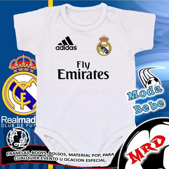 Bodys De Bebe Personalizados Real Madrid