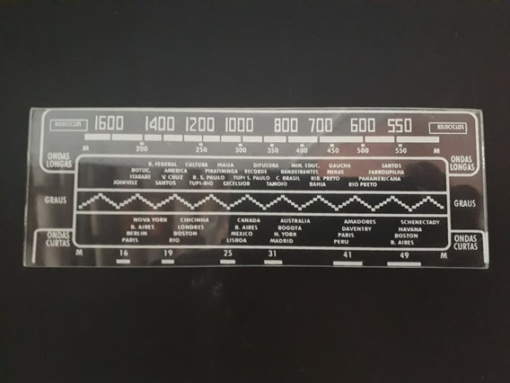 Vidro Dial Para Rádio Rca