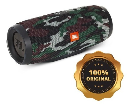 Caixa De Som Jbl Charge 3 Camuflada C/ Nf 100% Original