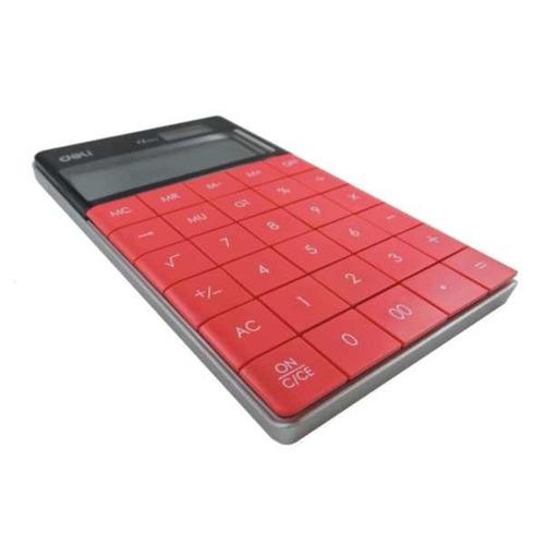 Imagen 1 de 4 de Calculadora De Escritorio | Deli Nº 1589 | Deli | Roja