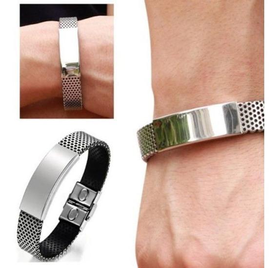 Bracelete Masculino - Aço Inoxidável (frete Grátis)