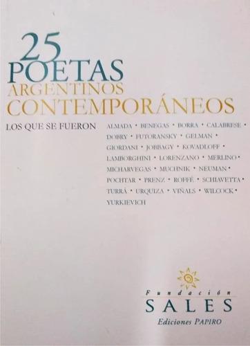 Imagen 1 de 1 de 25 Poetas Argentinos Contemporáneos - Los Que Se Fueron