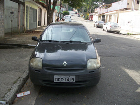Clio Hatch 2001 1.0 8v Preto 4 Portas
