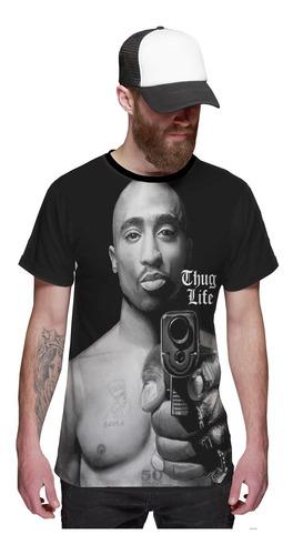 Imagem 1 de 2 de Camiseta Tupac Shakur Gangster Thug Life Hip Hop 2pac