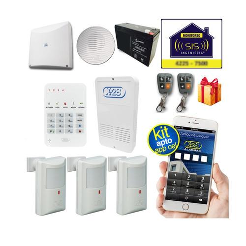 Imagen 1 de 5 de Kit X28 Alarma Domiciliaria Casa Llamador Gsm Apto Comando Via Celular